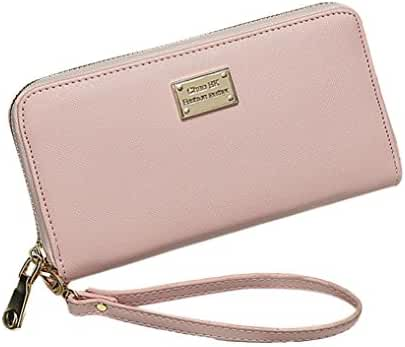 Lady Clutch Wallet,Hemlock Women Rectangle Zipper Purse Bag Card Bags (Pink)
