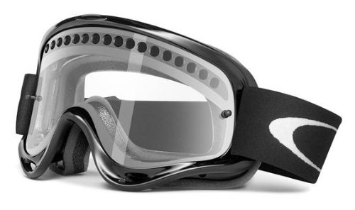 Oakley Enduro with Vented Lens MX Goggles (Jet Black Frame/Vented Clear Lens, One - 666 Frames