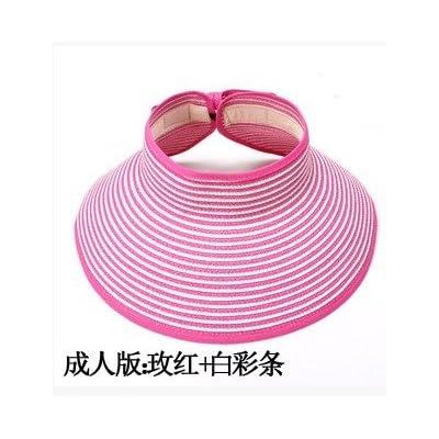 À l'été, chapeaux de plage sports loisirs plein air chapeau pliable mode chapeau de soleil, des profils, et le rouge et blanc)