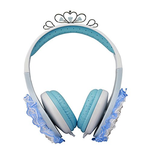 VCOM DE801-White Princess Series Children Headphone, Healthy Hearing Protection Stereo Headset