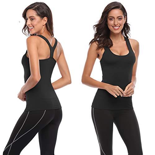 Womens V-Shape Workout Tank Tops Clothes for Women Yoga Basic Running 3 Pack TELALEO Tank Tops for Women