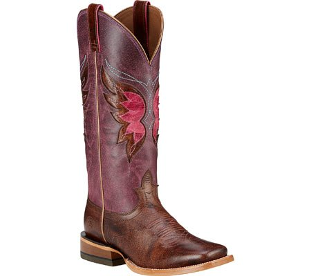 Ariat Womens Mariposa Wide Square Toe Performance Weathered Buckskin