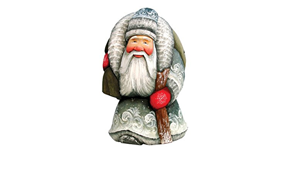 G Debrekht Here Comes Old World Santa Hand Painted Wood Carving Home Kitchen