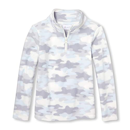 The Children's Place Big Girls Microfleece Pull Over Tops, ice cave, M (7/8) -