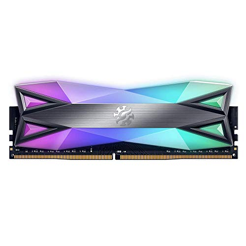 ADATA XPG SPECTRIX D60G 16GB (2x8GB) 3200MHz CL-16-18-18 DDR4 Gaming-DRAM Geheugenmodule, Wolfraam Grijs