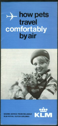 KLM Royal Dutch Airlines How Pets Travel Comfortably by Air airline folder 1978 from The Jumping Frog