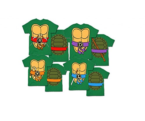 Teenage Mutant Ninja Turtles Mens T-Shirt with Eye Mask