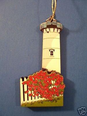 Martha's Vineyard East Chop Lighthouse Christmas Ornament by Shelia's ()
