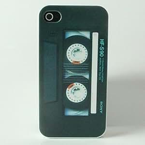 SHOUJIKE Black Tape Pattern Hard Case for iPhone 4/4S