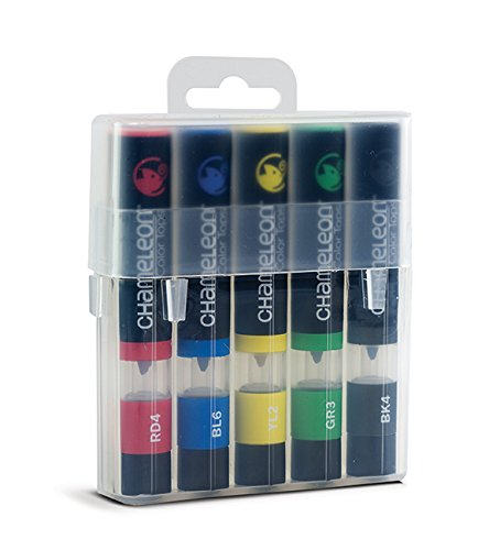 11x2x2 Chameleon Art Products Chameleon Color Tops Primary Tones 5-Pen Set