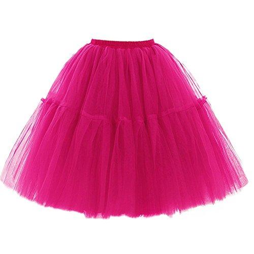Adulti Il Petticoat Partito Tutu Di Scfl Mini Gonna Stratificati Per Organza Prom Balletto Rosso Pizzo Donne Principessa Delle R7q5Zwwx