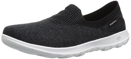 Gray Women's Walk Lite Go Black Flat Loafer Euphoria Skechers qg4ZFwn