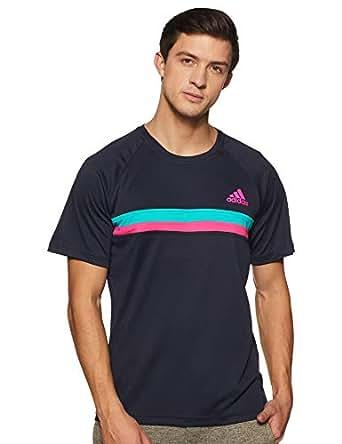 adidas Men's D93123 Club Color Block T-Shirt, Legend Ink, XL
