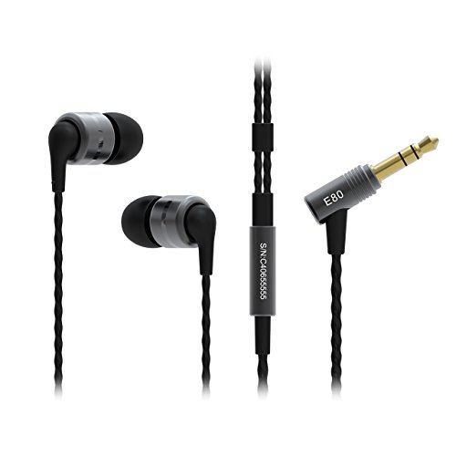 SoundMAGIC E80 Reference Series Flagship Noise Isolating In-Ear Headphones with Comply Ear Tips - Gunmetal