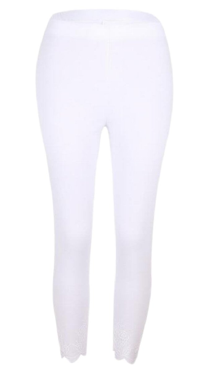 ZXFHZS Women Yoga Leggings Slim Fit Pants Workout Fitness Leggings White XXS