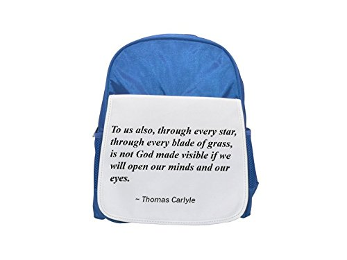 God Made Grass (To us also, through every star, through every blade of grass, is not God made visible if we will open our minds and our eyes. printed kid's blue backpack, Cute backpacks, cute small backpacks, cute bl)