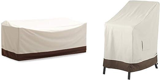 AmazonBasics - Funda Protectora para sofá de 3 plazas Griffen + Funda Protectora para sillas apilables: Amazon.es: Jardín