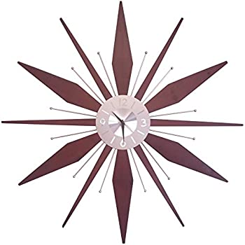 Amazon Com Telechron Wooden Starburst Clock Home Amp Kitchen