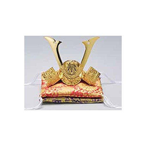 Tokyo Art Gallery ISHIHARA Japanese Samurai Golden Kabuto Helmet Statue - Yoshitsune Minamoto - w Double Cushion [Standard Ship by EMS with Tracking Number & Insurance]