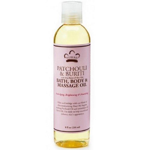 Body Massage Bath Oil Oils (Patchouli & Buriti Bath, Body, and Massage Oil 8 Ounces)