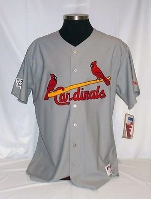 St. Louis Cardinals Authentic Majestic Road Jersey w/ 2004 World Series Patch B 2004 World Series Patch