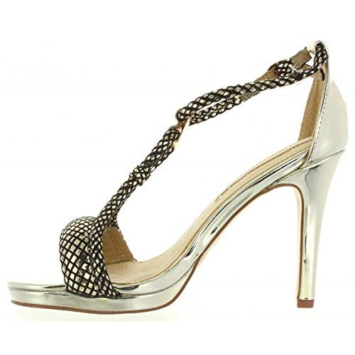 MARIA MARE Zapatos de Tacón de Mujer 66006 Champagne