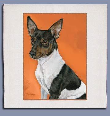 PIPS001 Animal Pet Gifts, Rat Terrier Dish Towel (Kitchen Terrier Towel)