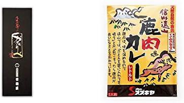 [2点セット] 岐阜銘菓 音羽屋 飛騨のかたりべ[6個入] ・信州遠山 鹿肉カレー 中辛 (1食分)