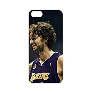 NBA Los Angeles Lakers Pau Gasol Case For Samsung Galaxy S5 Cover PC Soft s for basketball Lakers fans (White)