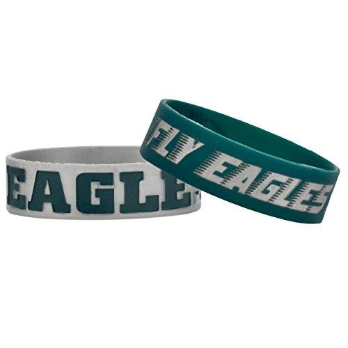 FOCO Philadelphia Eagles Bulk Bandz Bracelet 2 Pack
