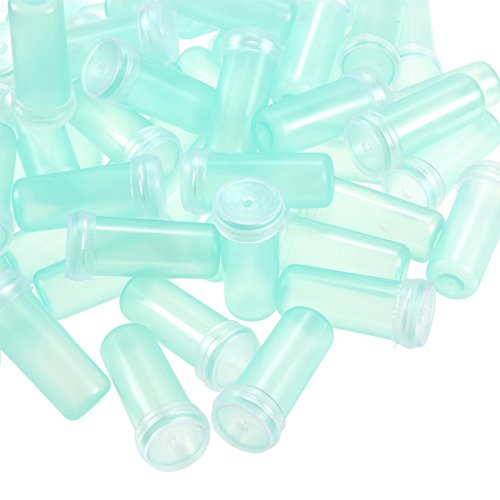 Flower Tube - 200-Pack Floral Tube, Flower Vials, Floral Water Tube for Flower Arrangements, Clear Blue Plastic, 0.6 x 1.6 x 0.6 inches by Juvale