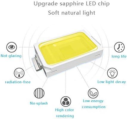 Lampadario a LED muto per ventilatore a soffitto 24W dimmer blu lampadario ventilatore elettrico per camera da letto soggiorno sala da pranzo-42 inch 106CM