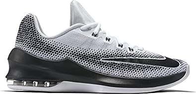 Nike Men's Air Max Infuriate Low White/Black Wolf Grey Basketball Shoe 8 Men US
