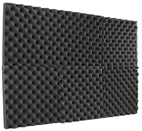 New Level 6 Pack- Acoustic Panels Studio Foam Egg Crate 2' X 12' X 12'