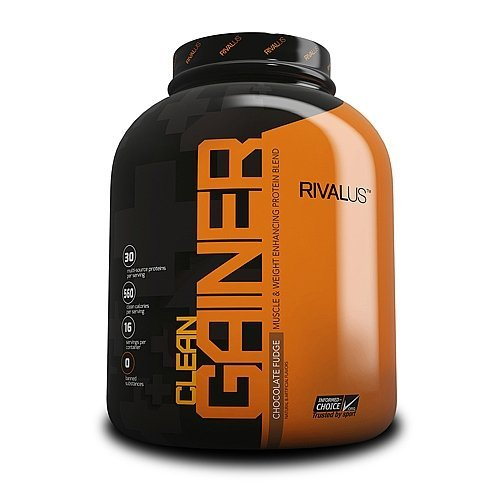 Rivalus Clean Gainer Protein Supplement, Chocolate, 5 Pound