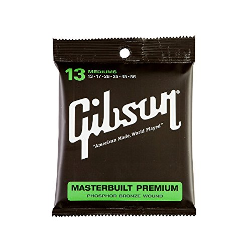 Gibson Gear SAG-MB13 Masterbuilt Premium Coated Phosphor Bronze Wound Acoustic Guitar Strings, Medium (Gibson Masterbuilt Premium Acoustic Guitar)