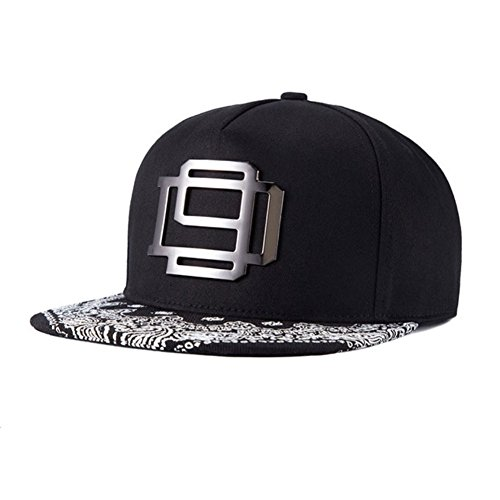 Adjustable Paisley Floral Print Hat Metal Rock Hip Hop Trucker Cap - - Snapback Hats Floral