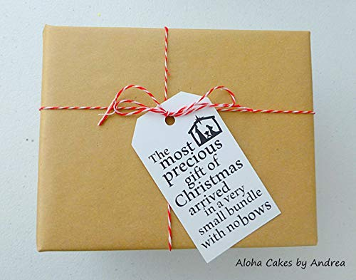 The Most Precious Gift Christmas Tags, Nativity Gift, Christmas Decor, Jesus Manger Tag, Heavy Cardstock, String/Twine Included, Set of 6