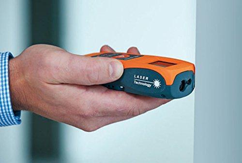 Naranja 115x45x30mm Prexiso 808085 Medidor l/áser para mediciones r/ápidas y fiables alcance hasta 20 m