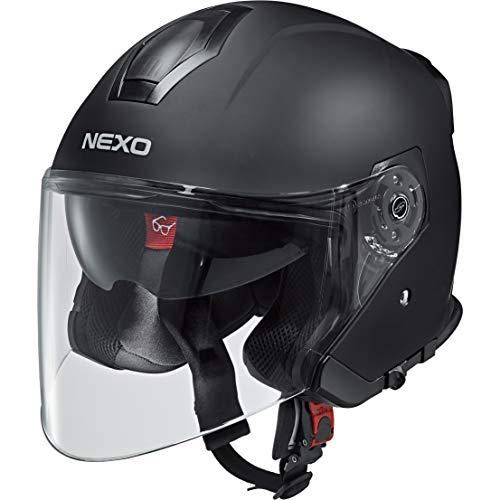 Nexo Jethelm Motorradhelm Helm Motorrad Mopedhelm Jethelm Travel 2.0, Unisex, Chopper/Cruiser, Ganzjährig, Thermoplast