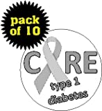 type 1 diabetes pins - (Quantity 10) Cure Type 1 Diabetes 1.25