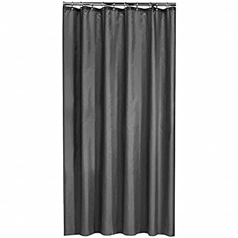 4373dd21675fa Amazon.com: Extra Long Shower Curtain 72 x 78 Inch Gamma Dark Gray ...