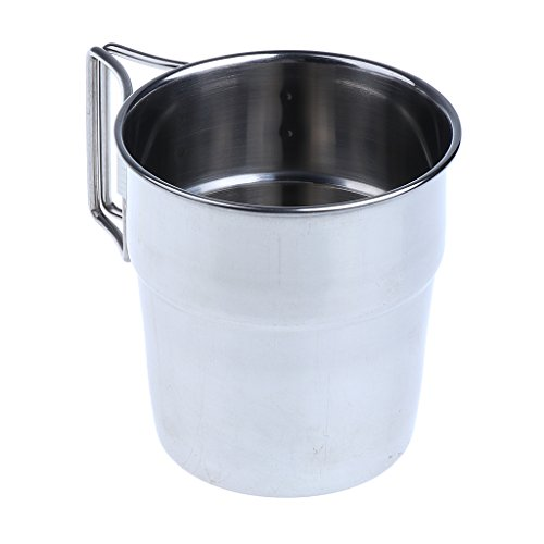 MagiDeal 4pcs Pack Stainless Steel Water Cups Outdoor Camping Coffee Mug with Folding Handle for Outdoors by Unknown (Image #5)
