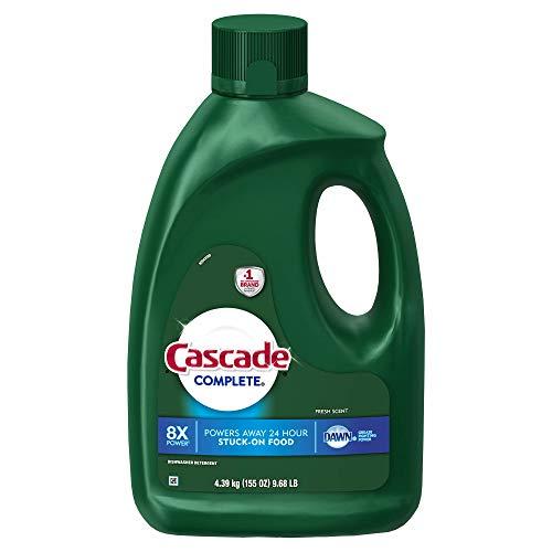 Cascade Complete Gel Dishwasher Detergent, Fresh Scent, 155 oz.ES (Dishwasher Detergent Liquid Gel)