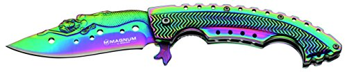 Boker 01LG318 Rainbow Mermaid Folding Knife with 440A Stainless Steel Blade, 3-1/4