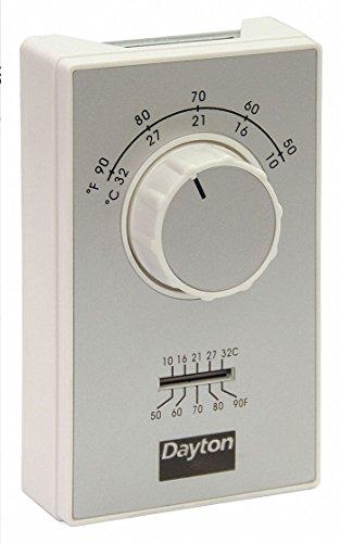 Dayton Line Volt Mechanical Tstat for Cooling, 120 to 277VAC ()