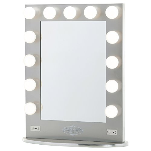 Broadway Lighted Vanity Mirror Gloss Black : Vanity Girl Hollywood Broadway Lighted Vanity Mirror - Gloss Black 36.25