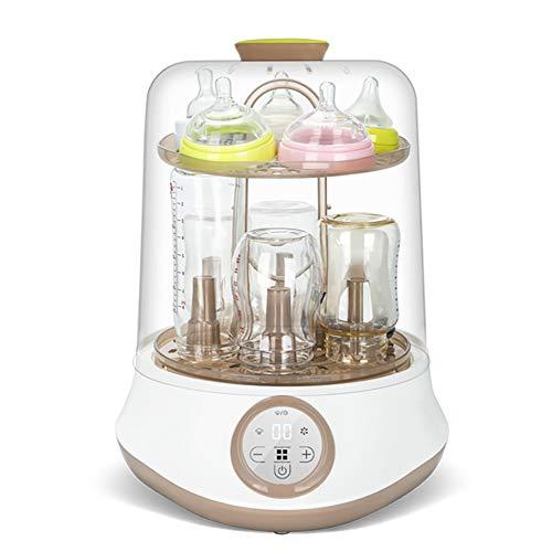 Calentador de biberones, esterilizador de vapor 3 en 1 Desinfección del termostato de biberones inteligente Secado...