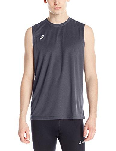 Mens Sleeveless Athletic Singlet - ASICS Men's Circuit 8 Warm-up Sleeveless, Steel Grey, Large
