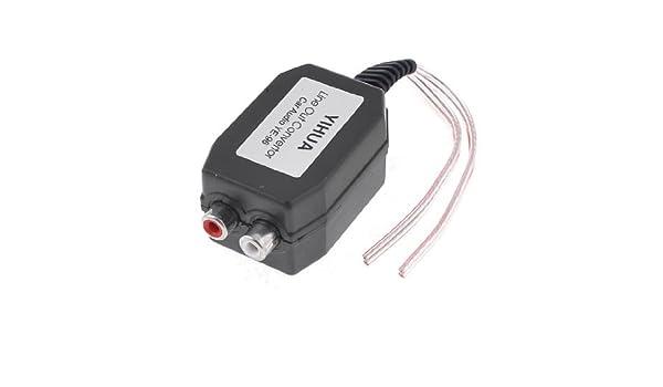 Amazon.com: eDealMax Auto Línea Nivel de altavoz a 2 RCA de entrada de Audio Impedancia convertidor: Home Audio & Theater